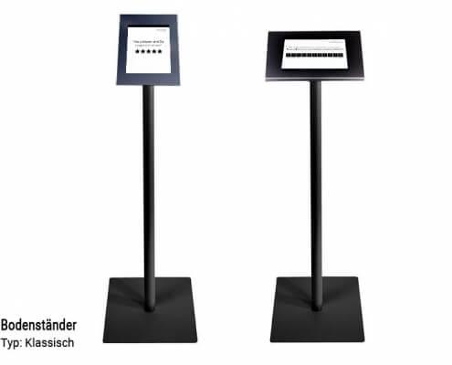 Feedback-Terminal-Bodenständer-klassisch-schwarz